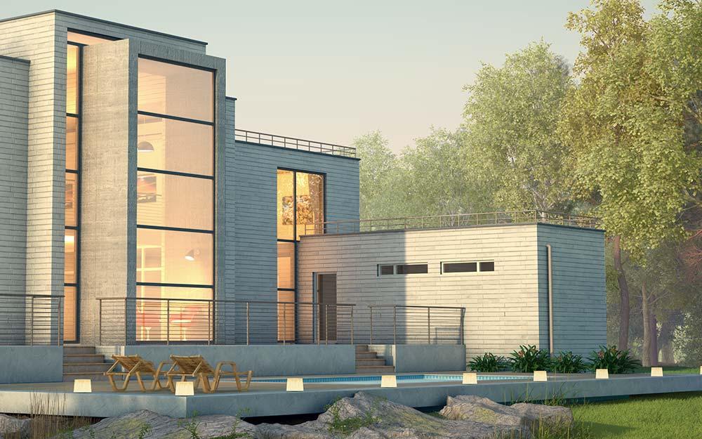 villa m 3d architect visualisation