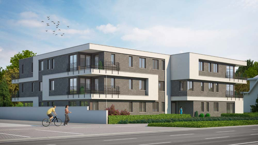 3D architectuur van appartementsgebouw te Mol